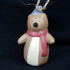 RUSS Christmas Ornament Bonnie Lynn Folk Squirrel with hat and scarf
