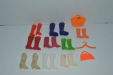 Barbie Accessories~Large Assortment Of 9 Barbie Boots~All Colors~Extras~Dg