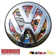 VW GOLF MK4 MK5 MK6 Stickerbomb Colour V2 - REAR Badge Inserts. POLO LUPO GTI