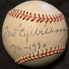 RARE Fred Cy Williams Dec74 PSA/DNA Signed Baseball Philadelphia Phillies HOF