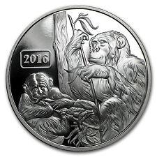 2016 Tokelau 1 oz Proof Silver Year of the Monkey Family - SKU #91582