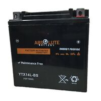 New YTX14L-BS Battery For Harley Davidson 750 Street 2014-2019 Motorcycle AGM