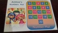TEAM UMIZOOMI - PERSONALISED - LEARN YOUR  NUMBERS MAT/POSTER - EYFS