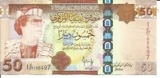 LIBYA 50 DINARS 2008  P 75. aUNC  CONDITION. QADDAFI. 4RW 30MAI
