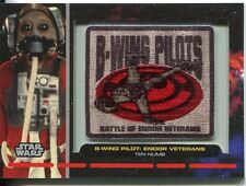 Star Wars Galactic Files Embroided Patch Relic Card PR-29 Ten Numb