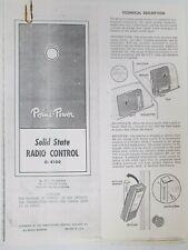 Perma Power Solid State Radio Control G-4100 Manual Technical Description 1967