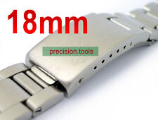 18mm Solid Stainless Steel Oyster Links Watchband With 80'S Buckle 0248