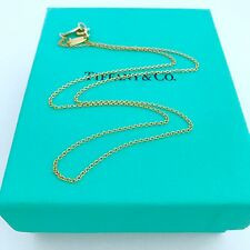 """Authentic Tiffany & Co 18k Yellow Gold Chain Necklace 16"""" With Pouch NEW!!!"""
