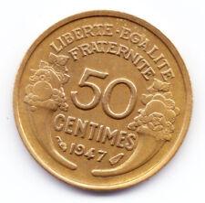 Rare 50 Centimes Morlon Bronze-Aluminium 1947 en TTB+