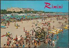 AA7792 Rimini - Panorama spiaggia e Alberghi - Cartolina postale - Postcard