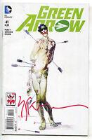Green Arrow 41 B DC 2015 VF Joker 75th Signed Bill Sienkiewicz Variant Batman