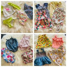 Baby Girl Clothes Lot 0 3 6 9 month Summer Spring Romper Swim Hat Shorts Tops