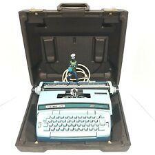Smith Corona Coronet Super 12 Coronamatic Electric Typewriter Blue w Case Works!