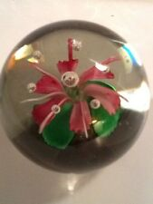 """Dynasty Gallery Heirloom Collectible Glass Purple Pink Flower With Bubbles  3"""""""