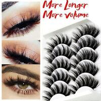 10Pairs 3D Mink Natural False Eyelashes Long Thick Fake Eye Lashes Makeup Tool