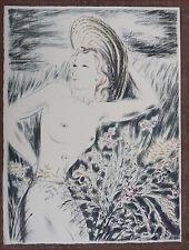 Louis Touchagues Nude Original Lithograph Signed France 1948  C