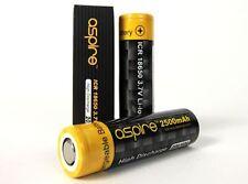 2 x Genuine Aspire 18650 ICR 3.7 20A / 40A 2600mAh Li-ion Battery Best for Vape
