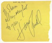Harve Presnell Cut Signature! Autograph! Fargo! The Unsinkable Molly Brown!