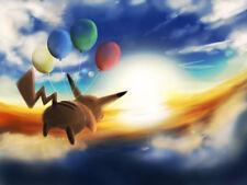 Pikachu Balloons 24 x 14 Custom Yugioh Playmat Mtg Play Mat Pokemon