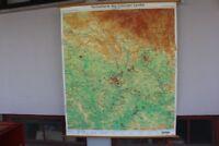 Schulwandkarte Rollkarte Lehrtafel Heimatkarte des Coburger Landes Coburg 70er