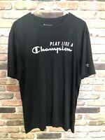 CHAMPION MEN'S  L  Double Dri-Fit T-SHIRT Black