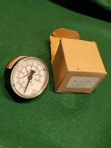 "NORGREN 18-013-209 White Pressure Gauge 160Psi 11 Bar 2"" Diameter 1/4  - NEW"