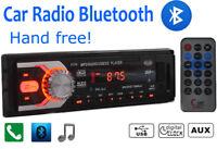 Autoradio Bluetooth Unité Tête 1DIN In Dash 12V SD/USB AUX Stéréo iPhone Android