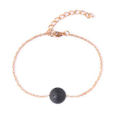 Lava Stone Rock Bead Black Round Stone Essential Oil Diffuser Healing Bracelet