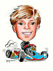 CUSTOM DETAIL CARICATURE PERSON & RIDE HAND DRAWN PAINTED & PAINTED