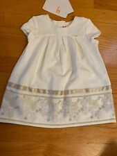 MAYORAL Ivory Fold Floral Embroidered Dress Easter Baptism Party 9 Months NWT