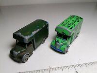 Vintage Matchbox Lesney Moko No. 17A Bedford Removal Van x 2 - (0321-64)
