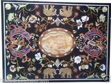 3'x3' Marble Dining Center Table Top Marquetry Micro Mosaic Inlay Hallway Decor