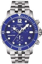 T0664171104700 Tissot Seastar 1000 Quartz Chrono Men's Watch Blue Dial/Bezel