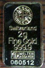 2 g Goldbarren sehr guter Zustand , 999- er Feingold, Switzerland