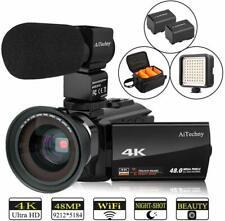 Video Camera 4K Camcorder AiTechny HD Digital WiFi Vlogging Camera 48MP 16X IR