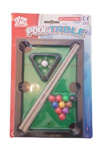 KIDS TOY MINI TABLE TOP SNOOKER POOL PLAY SET DESKTOP STOCKING FILLER