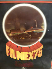 1975 FILMEX Los Angeles FILM Exposition WAR of The WORLDS Poster Matted/framed
