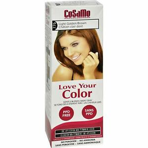 CoSaMo Hair Color #776 Light Golden Brown - Compares to Clairol Loving Care #76