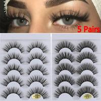 Natural Long Eye Lash Extension Criss-cross 3D Faux Mink Hair False Eyelashes