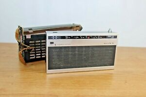Rare Vintage Sony Transistor All Wave Radio Model TR-820 - In Leather Case 13.C