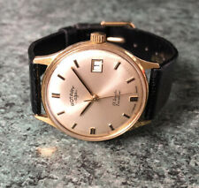 Vintage 1960s ROTARY Manual Wind Gold Plated Date Watch, Fully Working AS 1901