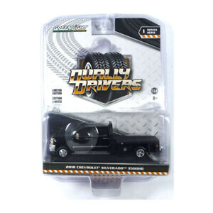 Greenlight 46010-A Chevrolet Silverado 3500HD Black - Dually Drivers 1:64 New °