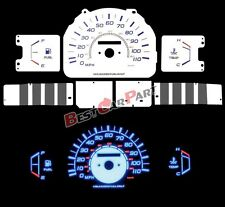 WHITE 85-88 4Runner Pickup w/o Tach BLUE INDIGLO Reverse EL GLOW GAUGE KIT