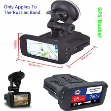 Hd Car Dvr Cam Anti-Radar Detector Alarm Gps Tracker Video Recorder + Russia Map
