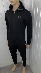 UA under armour hooded full 2 piece tracksuit black XXLARGE active wear bnwt