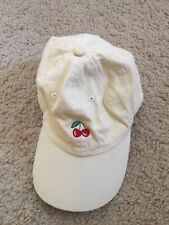 New! brandy melville yellow cherry embroidery baseball cap Hat NWT OS