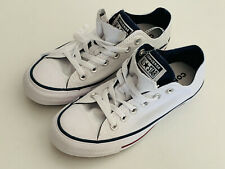 NEW! CONVERSE CHUCK TAYLOR ALL STAR WHITE NAVY RED SNEAKERS SHOES 7 37 SALE