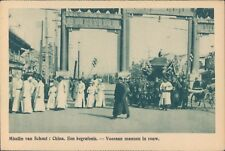 CHINA Belgian mission funerals 1910s PC
