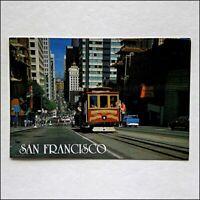 San Francisco Cable Car No.55 Nob Hill 1988 Postcard (P435)