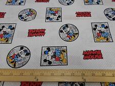 """1 yard Disney Mickey & Minnie """"Framed"""" Fabric"""